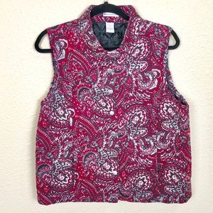 Rebecca Malone Red Quilted Vest